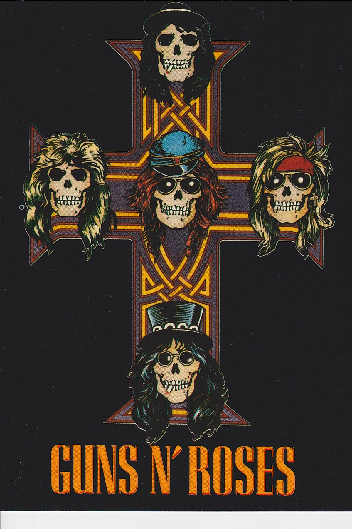 Guns N' Roses Axl's Cross Tattoo Postcard