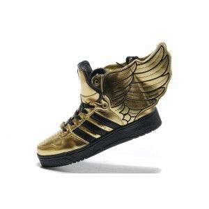 Golden wings | Black and gold shoes