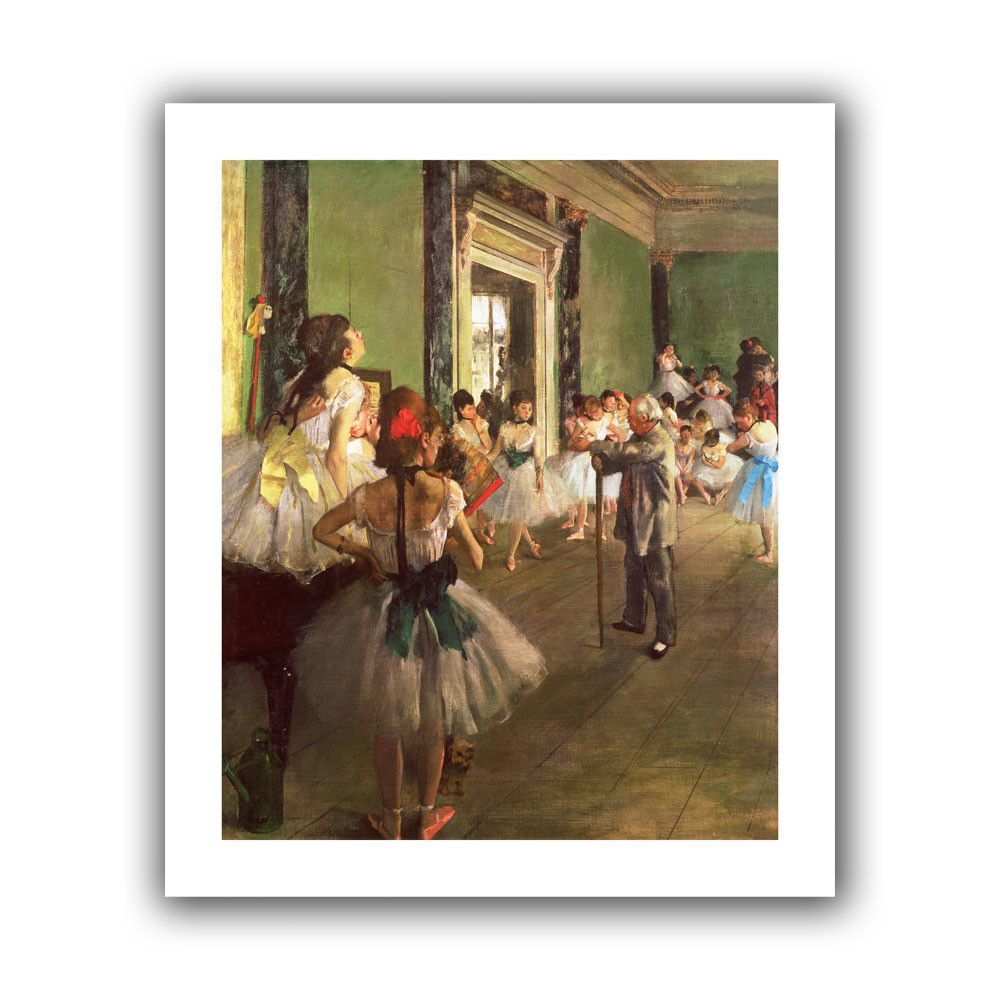 'The Dancing Class' by Edgar Degas Canvas Poster