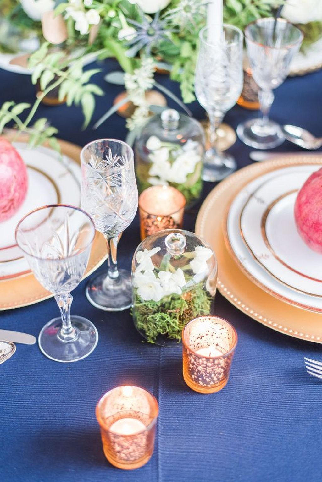 Wedding decoration ideas 2018  Cool  Fabulous Navy Blue and Gold Wedding Decor Ideas