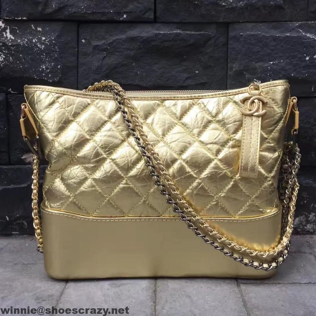 2594643dd2a2 Chanel Metallic Leather Gabrielle Hobo Bag   Chanel   Chanel, Bags ...