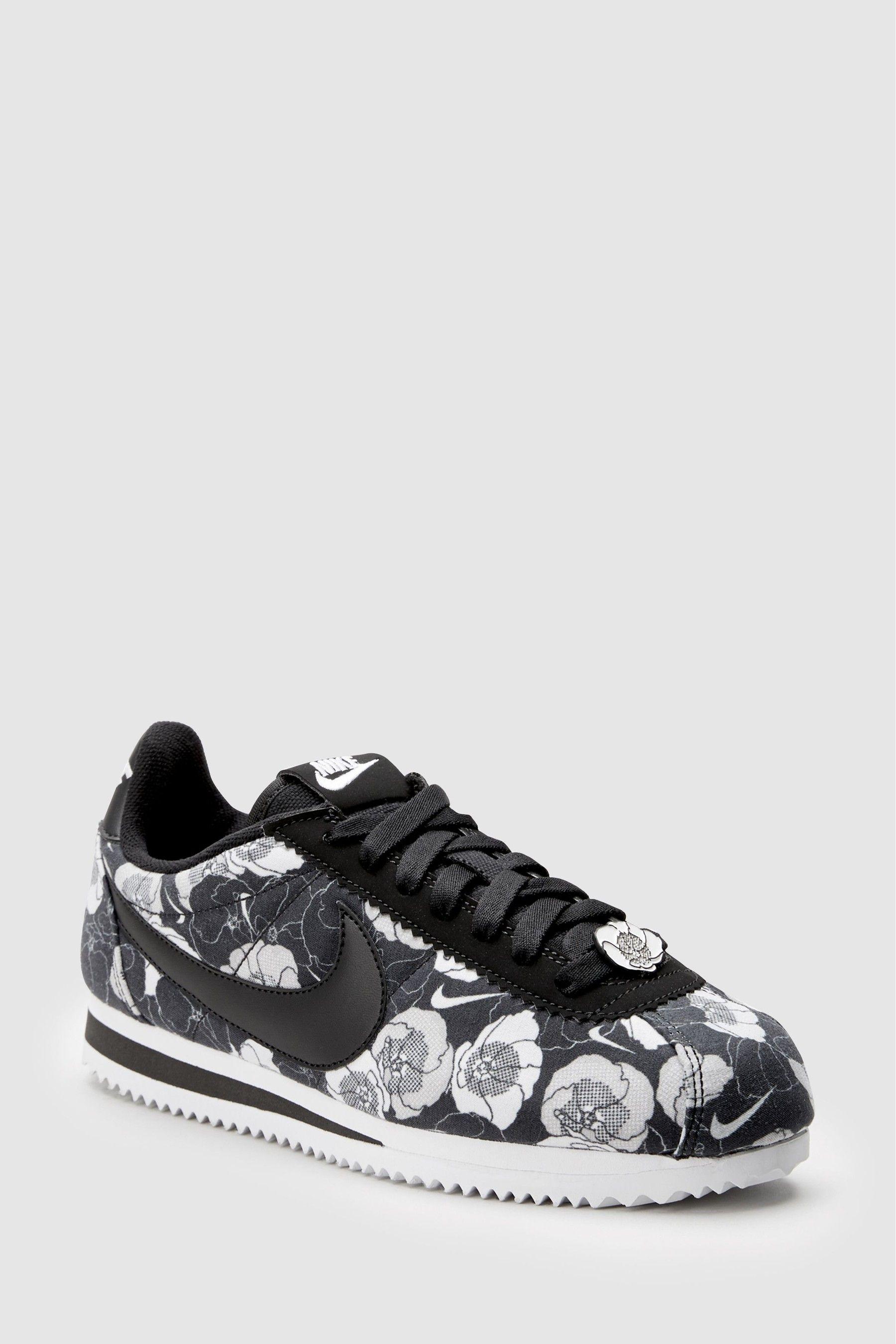 Womens Nike Floral Cortez Black | White nike shoes, Nike