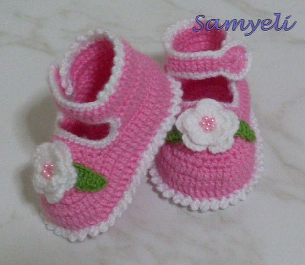 Baby Booties free crochet tutorial | Crochet | Pinterest | Zapatos ...