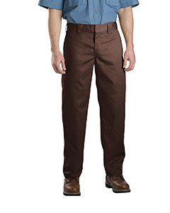 Dickies 8.5 oz. Slim Straight Fit Work Pant WP873 Choc brown 34