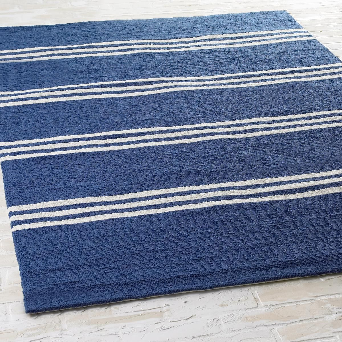 Round Navy Striped Rug Area Rug Ideas