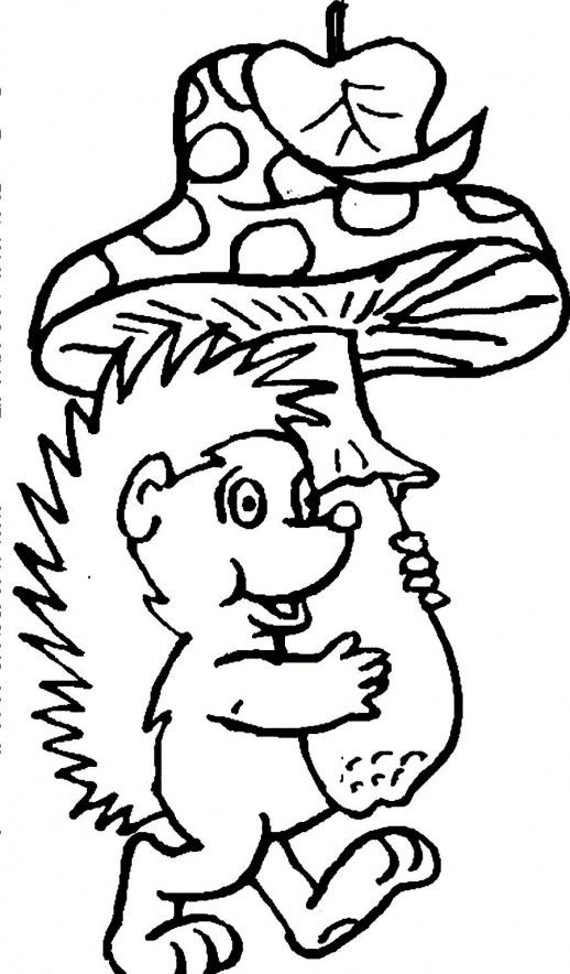 cartoon mushroom coloring pages  King Smurf Bringing A Mushroom