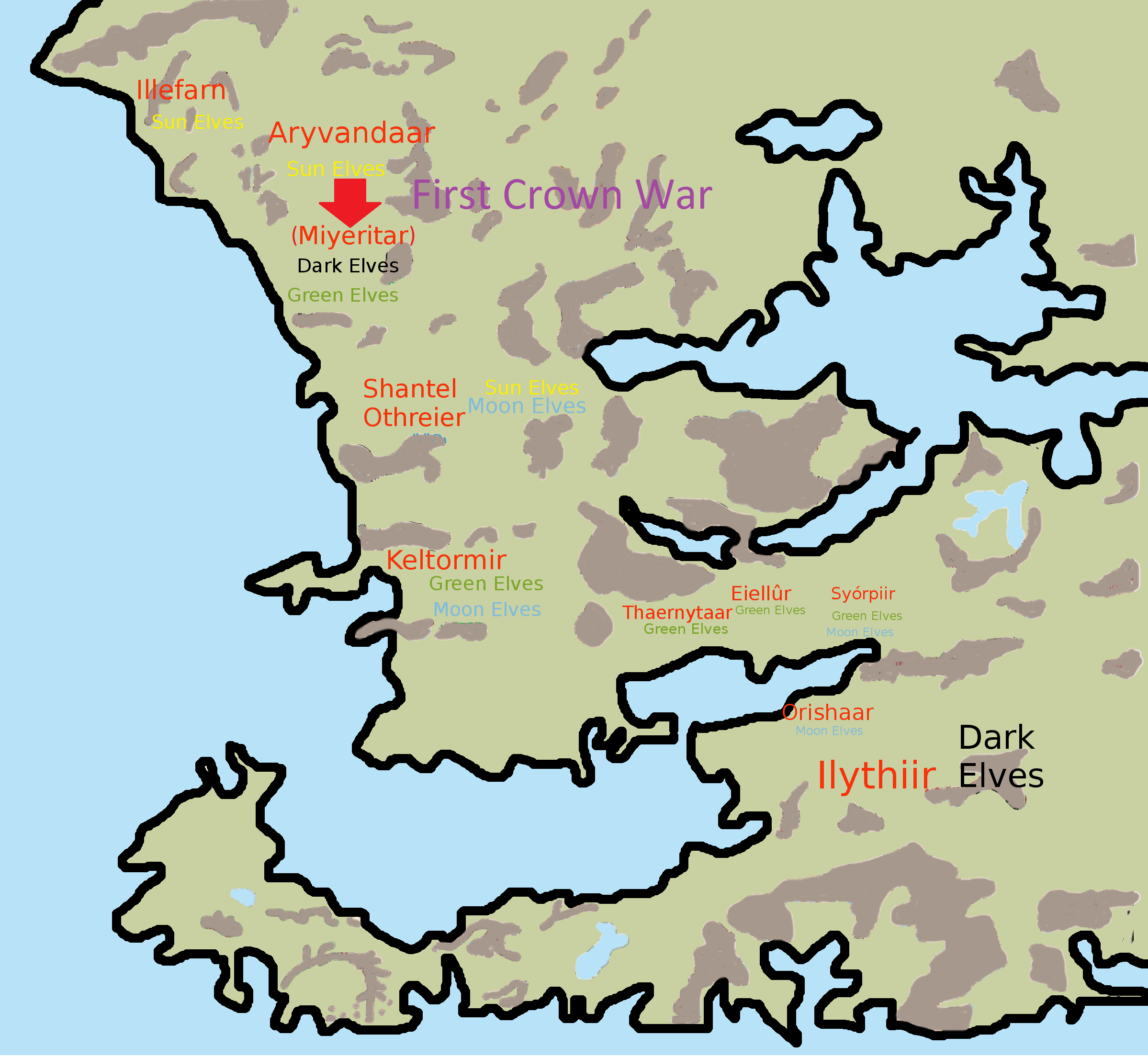 First Crown War Elven Realms Forgotten Realms Dungeon And