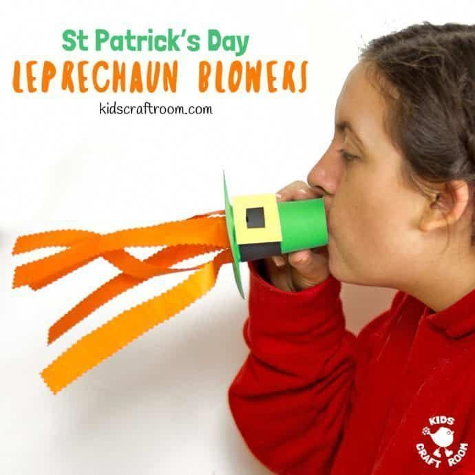 Try these Leprechaun Hat Blowers  A Fun St Patricks Day Craft for kids! Blow i