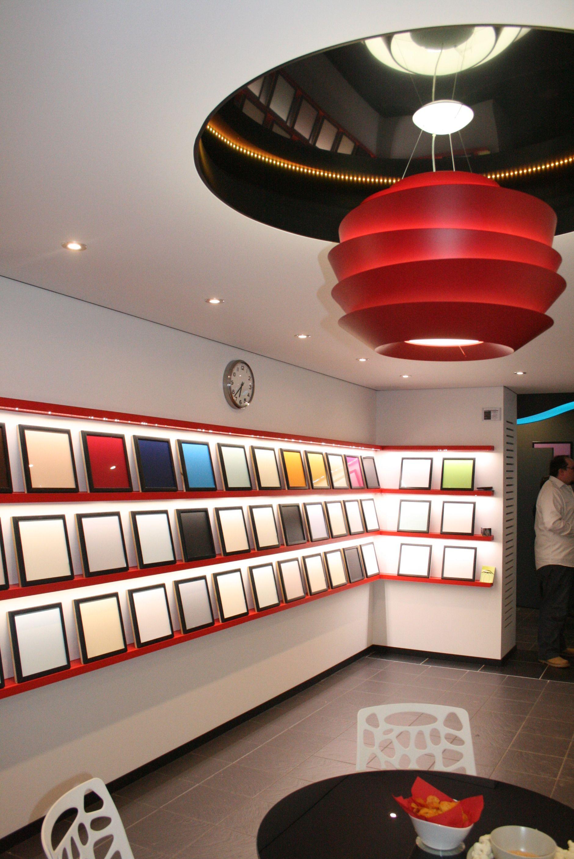 Extenzo Spanplafond Plafond Tendu Stretch Ceiling showroom