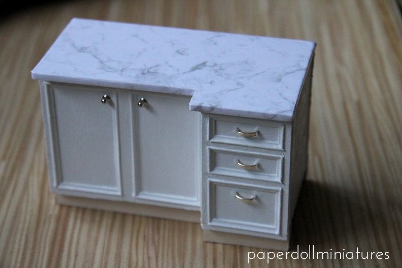 Paper Doll Miniatures: Lower Cabinets Tutorial