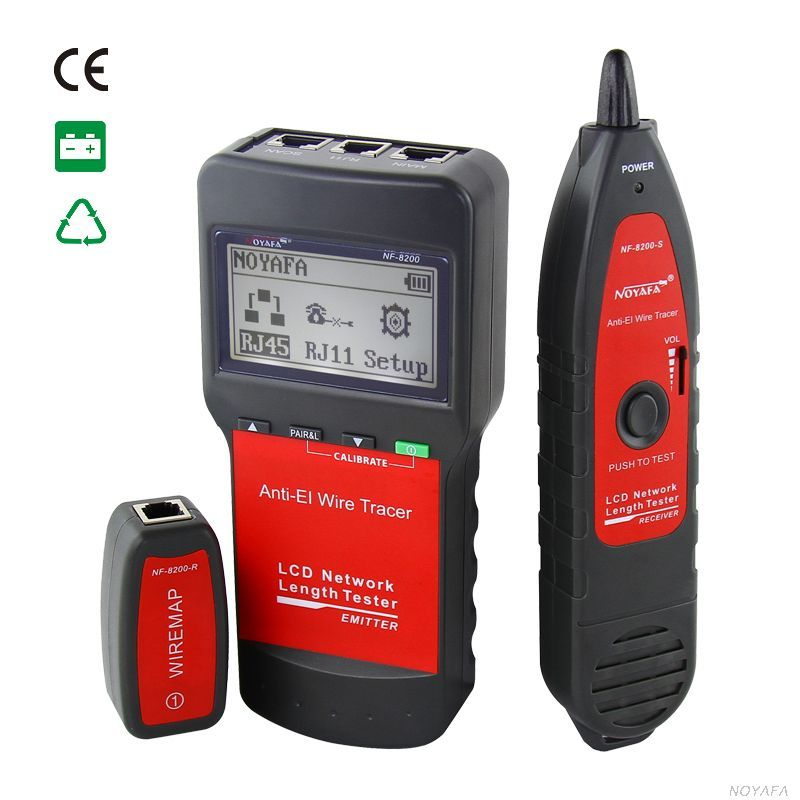 Noaya High u0026 Low Voltage Cable tester Underground Cable Finder Anti-Interference Wire Tracker RJ45  sc 1 st  Pinterest : low voltage wiring tools - yogabreezes.com