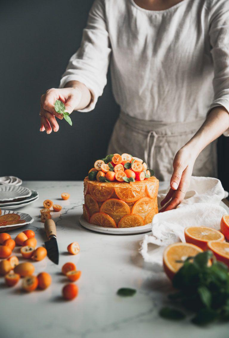 Candied Orange Olive Oil Cake + Cornmeal & Rum #oliveoils