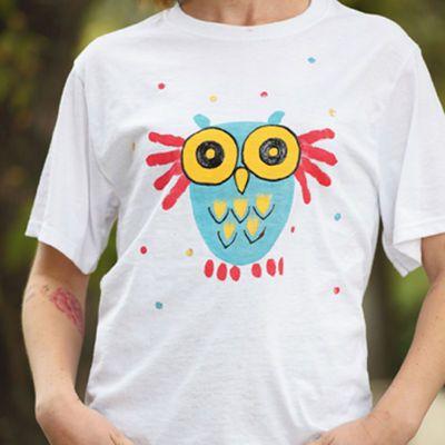 Kid's Crafts-Owl t-shirt