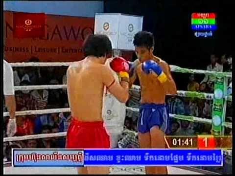 Khmer -Thai Boxing - Sen Rady (Cam) Vs Sang Phart (Thai) - 30 August 2014