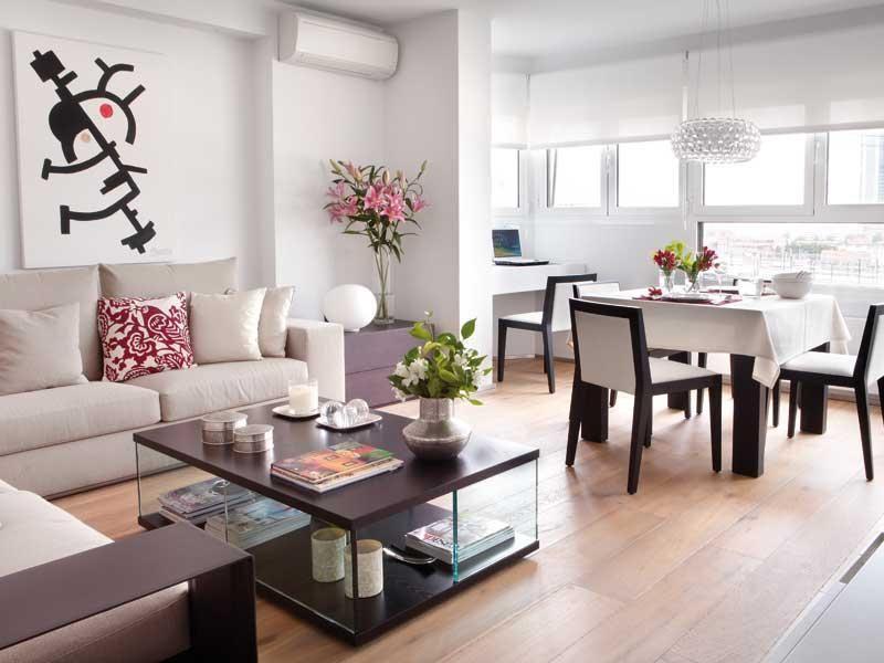 Ambientes de la casa salon comedor comedores y sal n - Decorar salon alargado ...