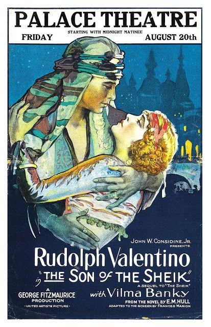 RUDOLPH VALENTINO PHOTO Rare Hot Vintage Poster