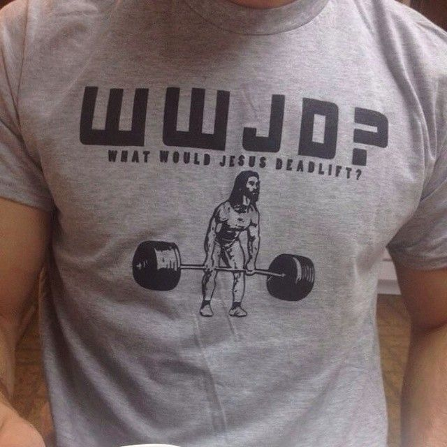 130feeb47 What would jesus deadlift? wwjd? Work out shirts, gym clothes, body  building must haves!