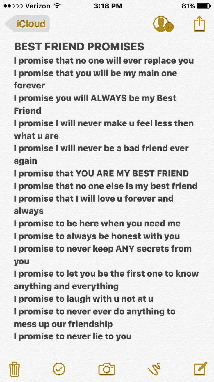 My bestie won't make such promises to meever - New Ideas #friendbirthdaygifts