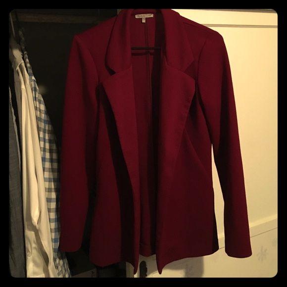 Burgundy blazer only worn once Perfect blazer! Looks amazing on Charlotte Russe Jackets & Coats Blazers