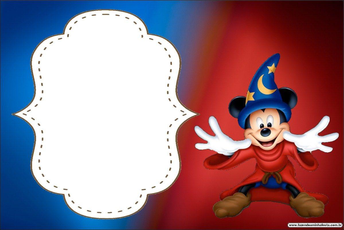 Mickey Feiticeiro The Sorcerer s Apprentice – Grátis Molduras Convites  Rótulos Lembrancinhas Imagens! 42f83a61a961c