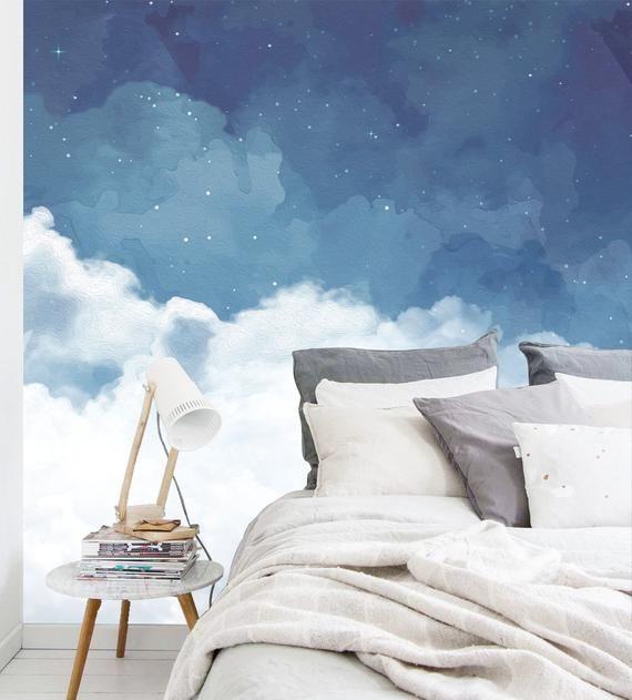 Cloudy Night Sky Wallpaper,fantastic starry sky wallpaper