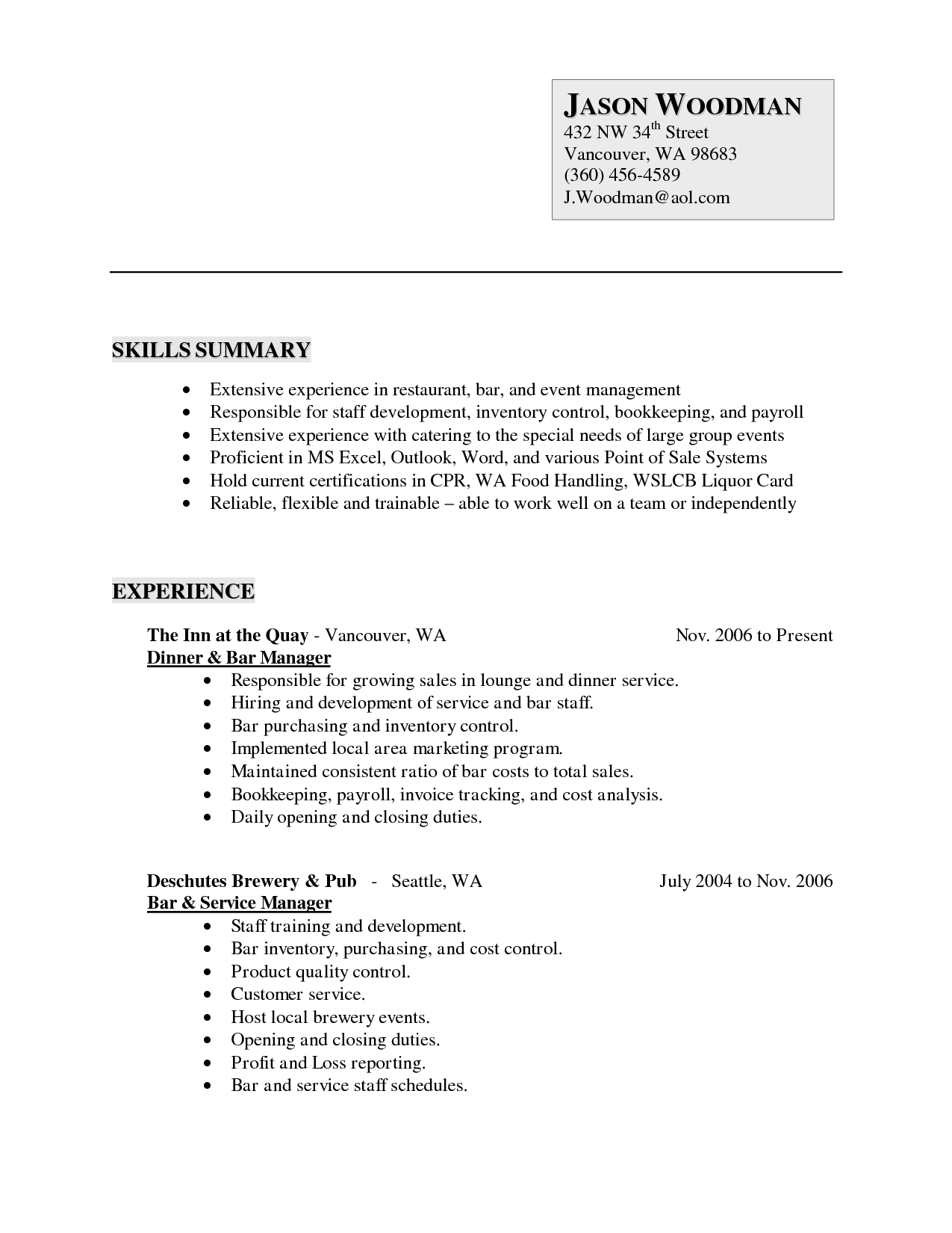 Letter Examples Volunteer Positionvolunteer Work On Resume