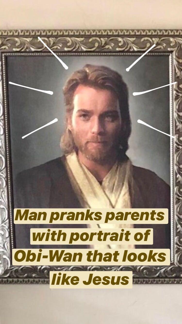 Obi Wan Jesus Meme : jesus, Pranked, Parents, Giving, Portrait, Obi-Wan, Kenobi, Looks, Jesus, Christmas, Kenobi,