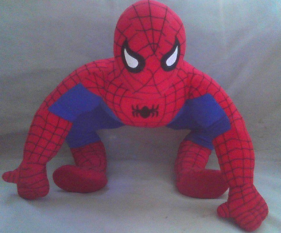 Giant Spider Man Marvel Comics Jumbo Stuffed Plush Vintage Toy Doll