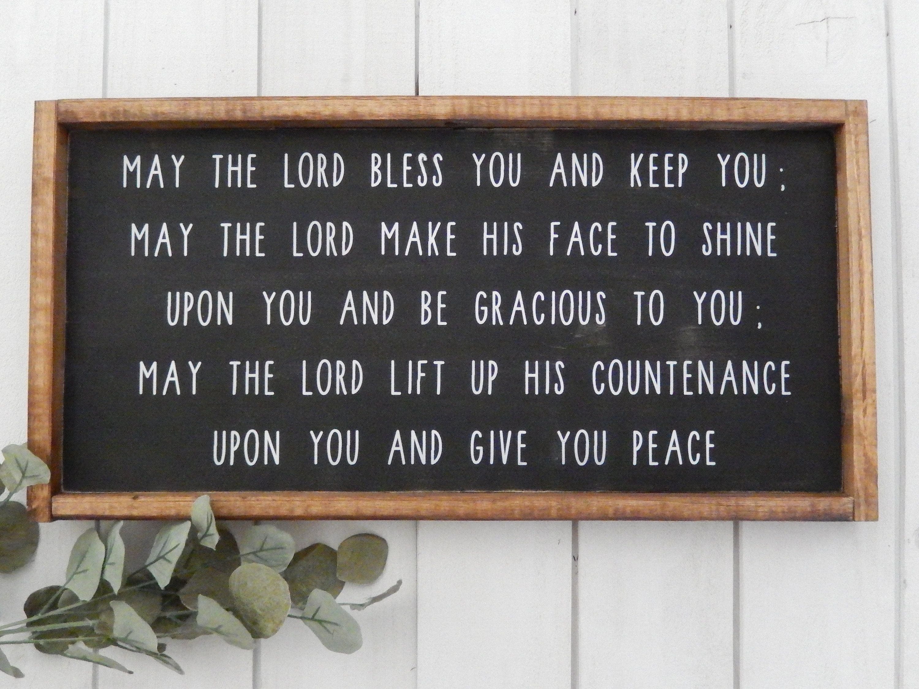 May The Lord Bless You And Keep You Sign Bible Verse Wood Etsy Wood Signs Bible Verse Wood Signs Wood Signs For Home