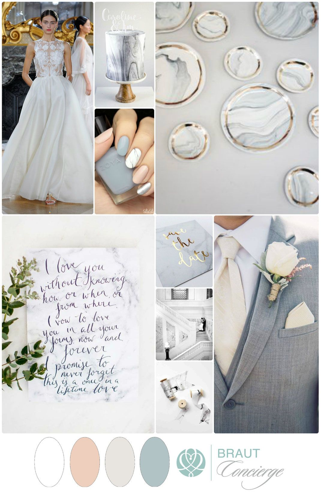 Marble wedding mood board i braut concierge veranstaltungsmanufaktur