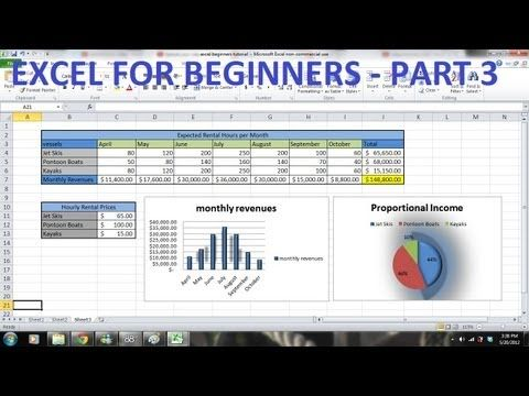 How to Use Excel 2010 Tutorial FOR BEGINNERS PART 3 - How to use