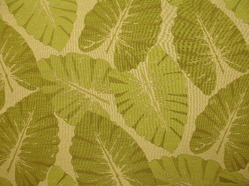 green natural woven large tropical leaves upholstery fabric ebay