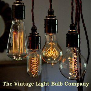 Vintage Edison Filament Light Bulbs Vintage Light Bulbs Filament Bulb Lighting Antique Light Bulbs