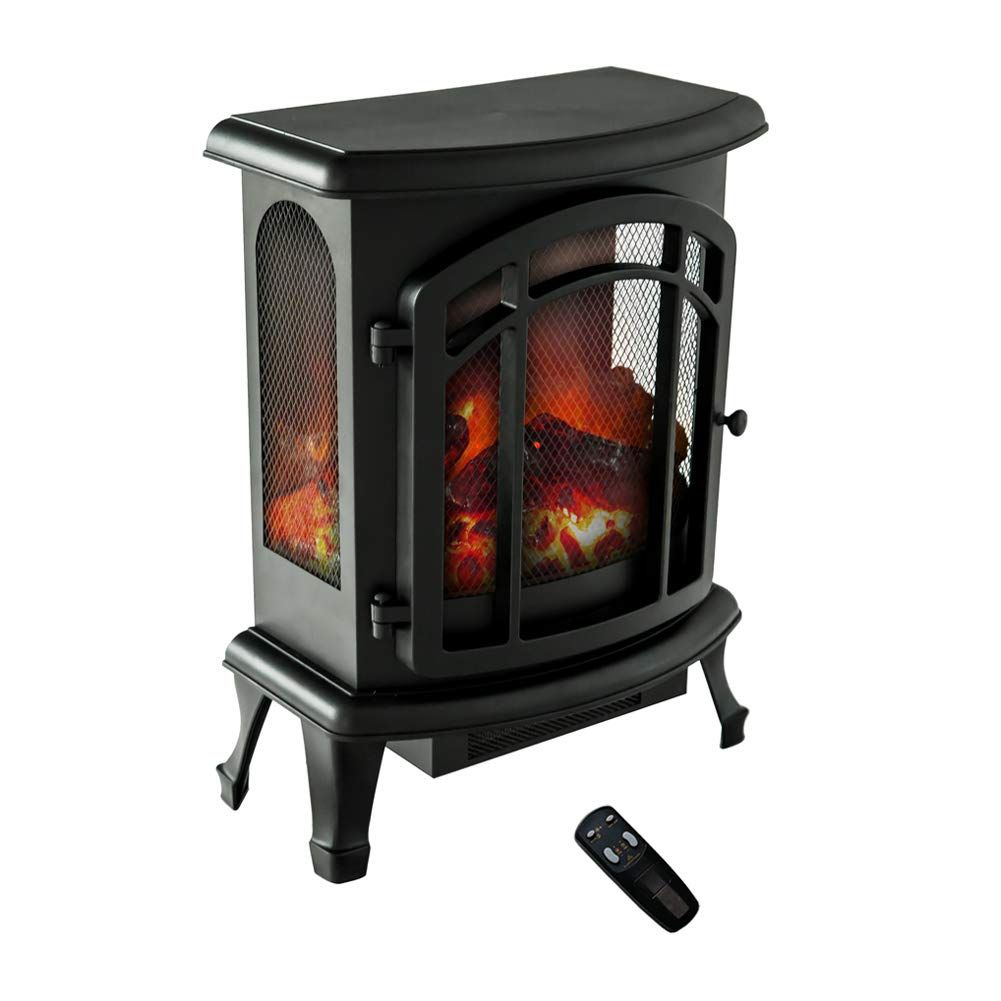 Flame Amp Shade Electric Wood Stove Fireplace Heater Freestanding Height 24in Stove Heater Stove Freestanding Fireplace