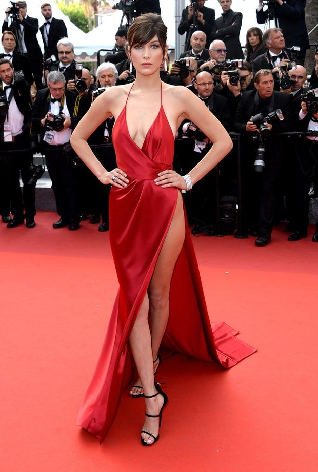 332c0aa5f2 See Bella Hadid and RHW Duke It Out in Red Dresses at Cannes