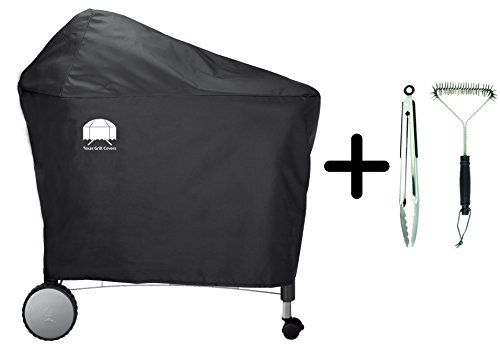Texas Grill Covers 7455 7152 Premium Cover For Weber Performer Deluxe Charcoal Grill 22inch Including Brush And Tongs Grill Cover Weber Gas Grills Grill Tongs