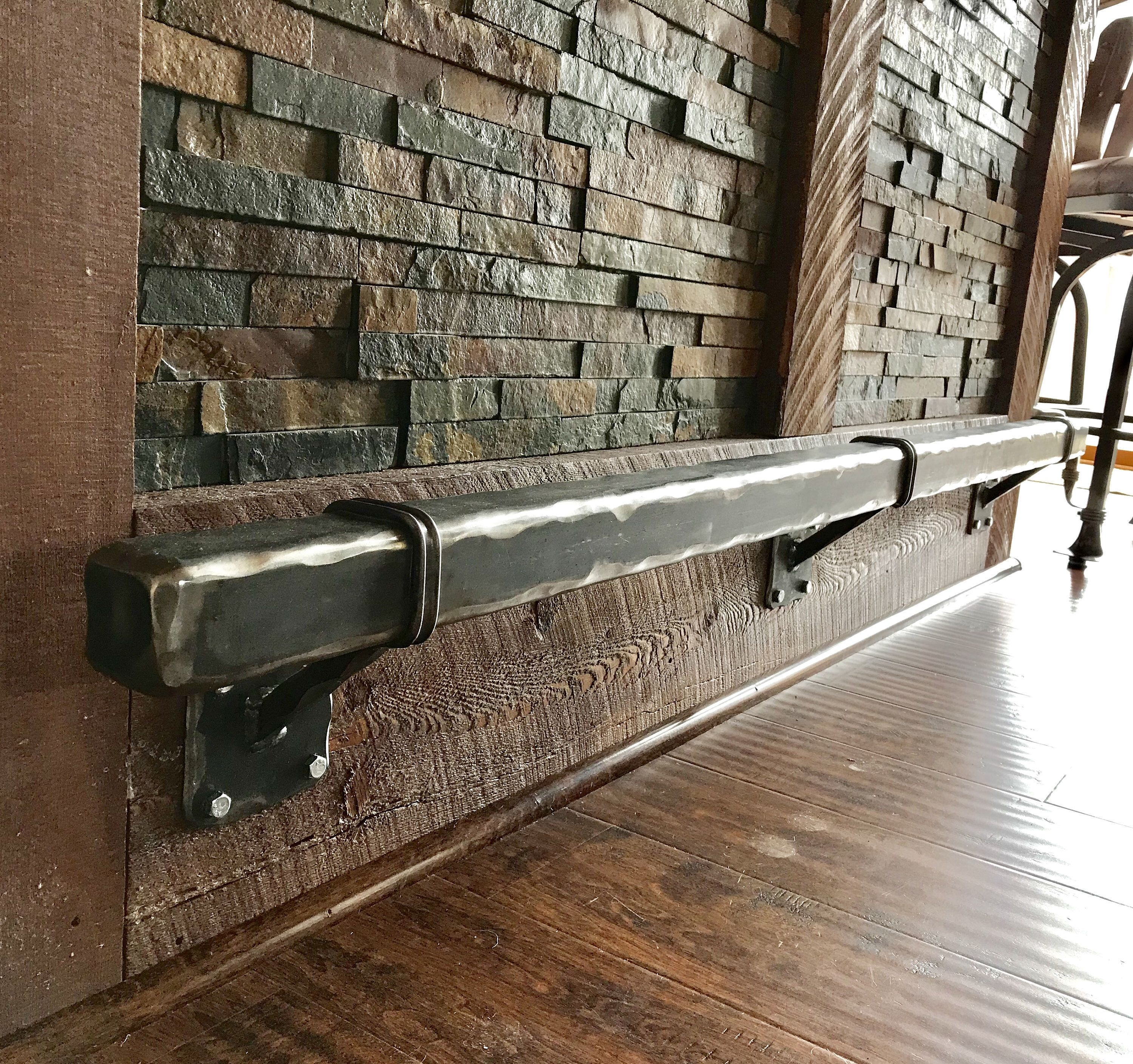 Bar Foot Rail Beautifully Handcrafted Steel Contemporary Etsy Basement Bar Designs Rustic Basement Bar Rustic Basement