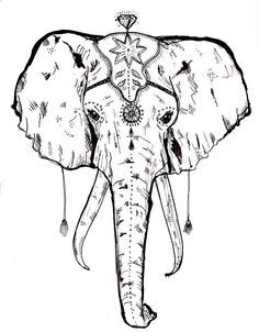 Elephant Drawings On Pinterest Elephants How To Draw And Circus Elephant Tattoos Elephant Face Drawing Elephant Drawing