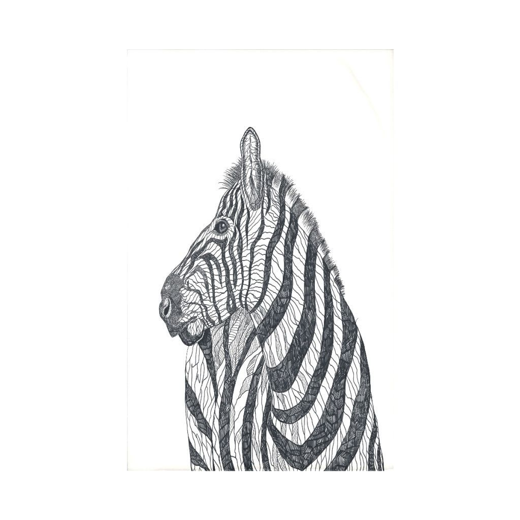 E by design offwhite animal print throw blanket products