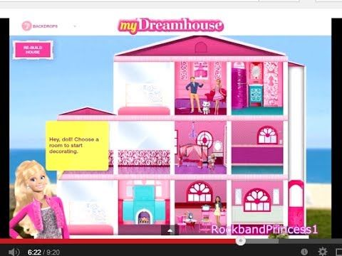 free online barbie decorate house games | home and house style