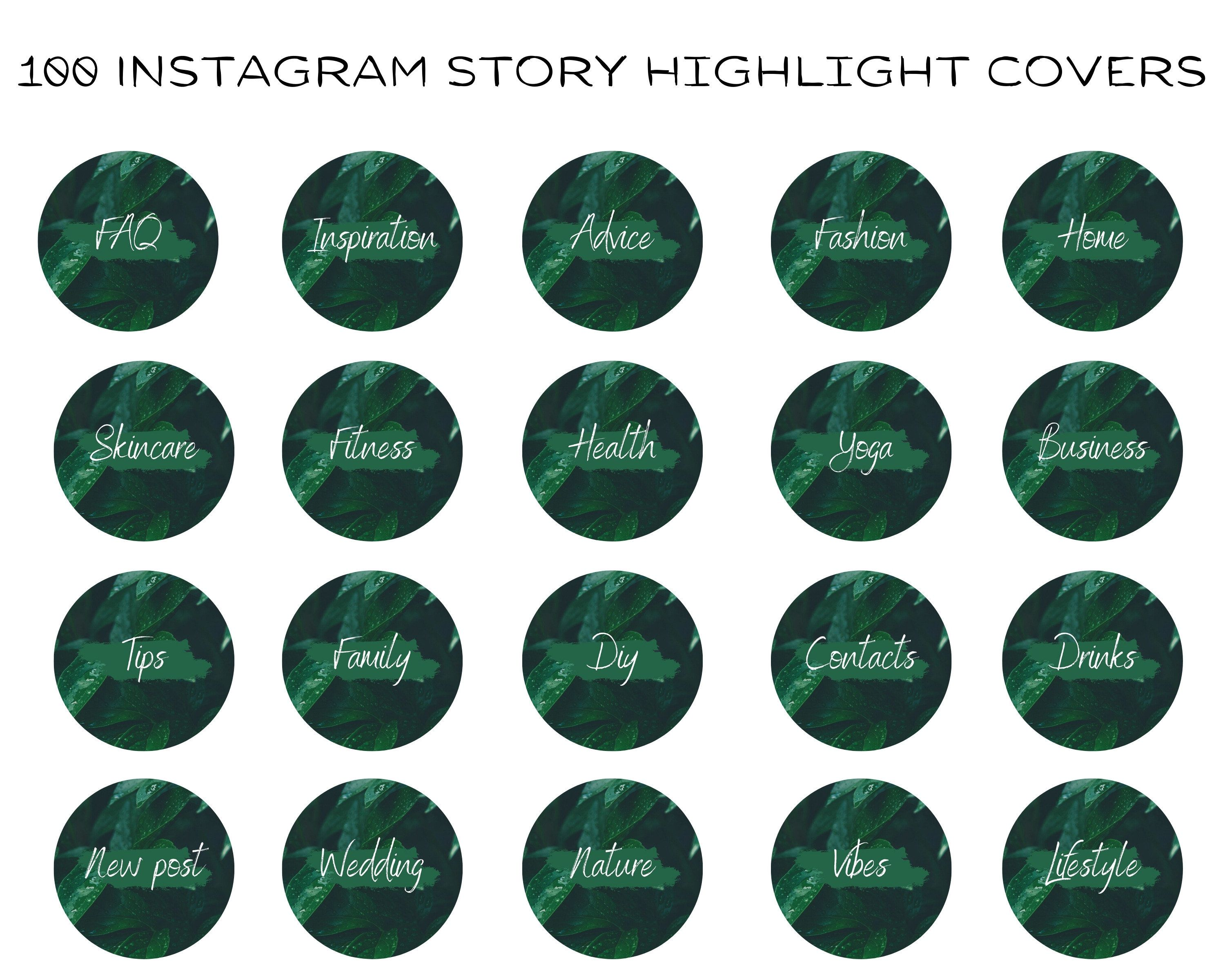 100 Instagram Story Highlight Icons Green Text Highlights Minimalist Instagram Greenery Covers Instagram Text Covers Social Media Icons In 2020 Story Highlights Instagram Story Instagram Icons