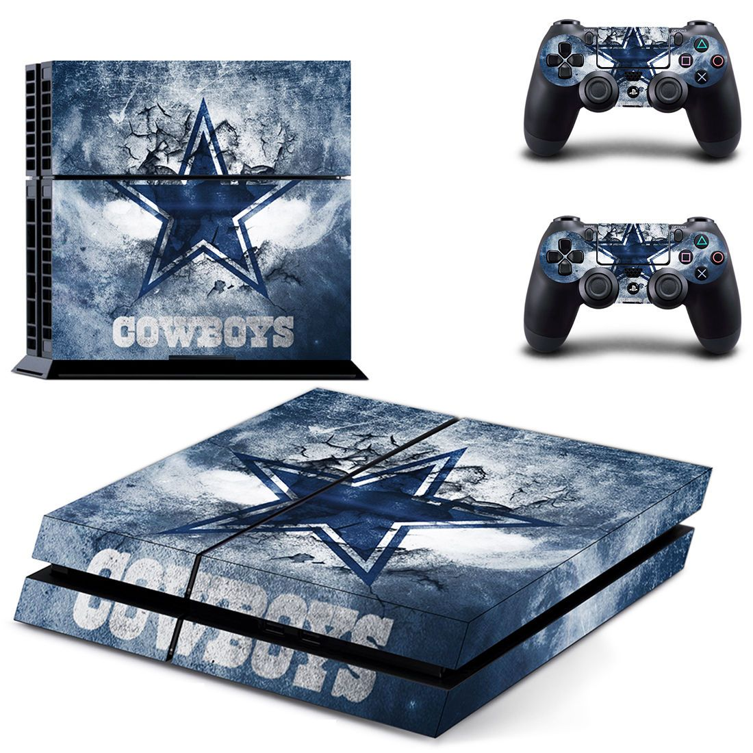 Su Dallas Cowboys Decal Sticker Skin For Playstation 4 Ps4 Console+Controllers