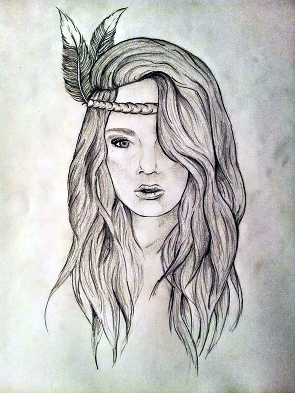 Just some amazing hipster drawing ideas 40 of it for Amazing drawings of girls