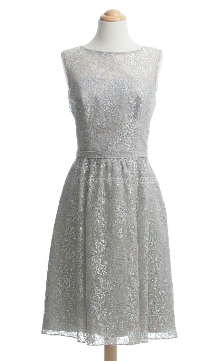 Luxurious silver short bridesmaid dressshort bridesmaid dresses