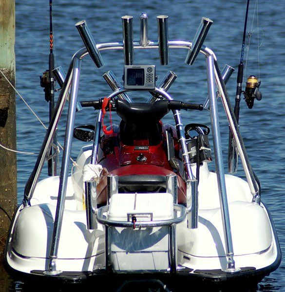 Photo of a jet ski rigged for fishing stuff i like for Jet fishing boat