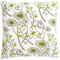 Angie Lewin Hedgerow Cushion Cover in Grey/Green