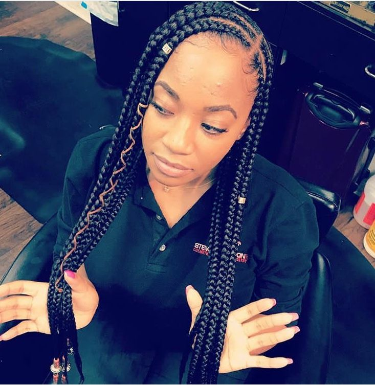 Pin By Kalissa Warnick On Hairs Feed In Braid African