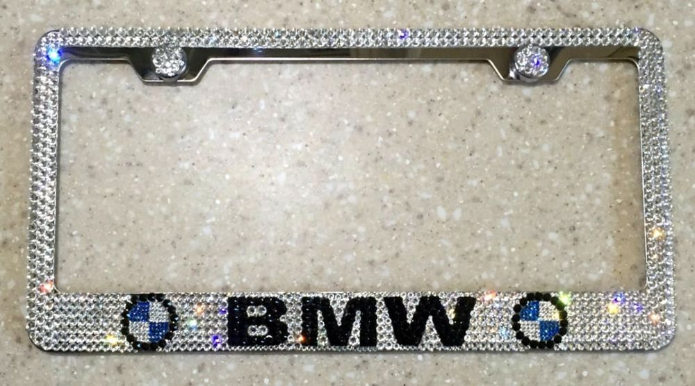 BMW License Plate Frame made with Swarovski Crystals - Car Jewelry ...