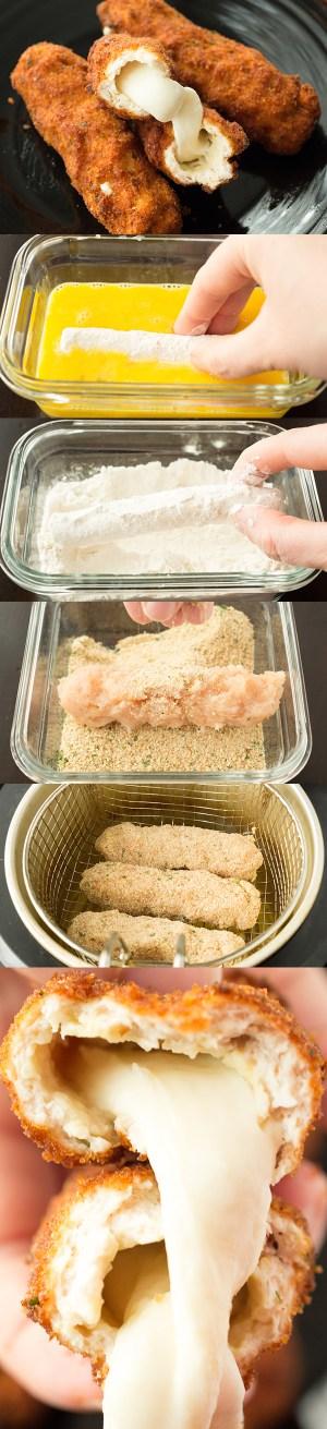 Mozzarella Stick Chicken Fries Recipe Chicken Recipes