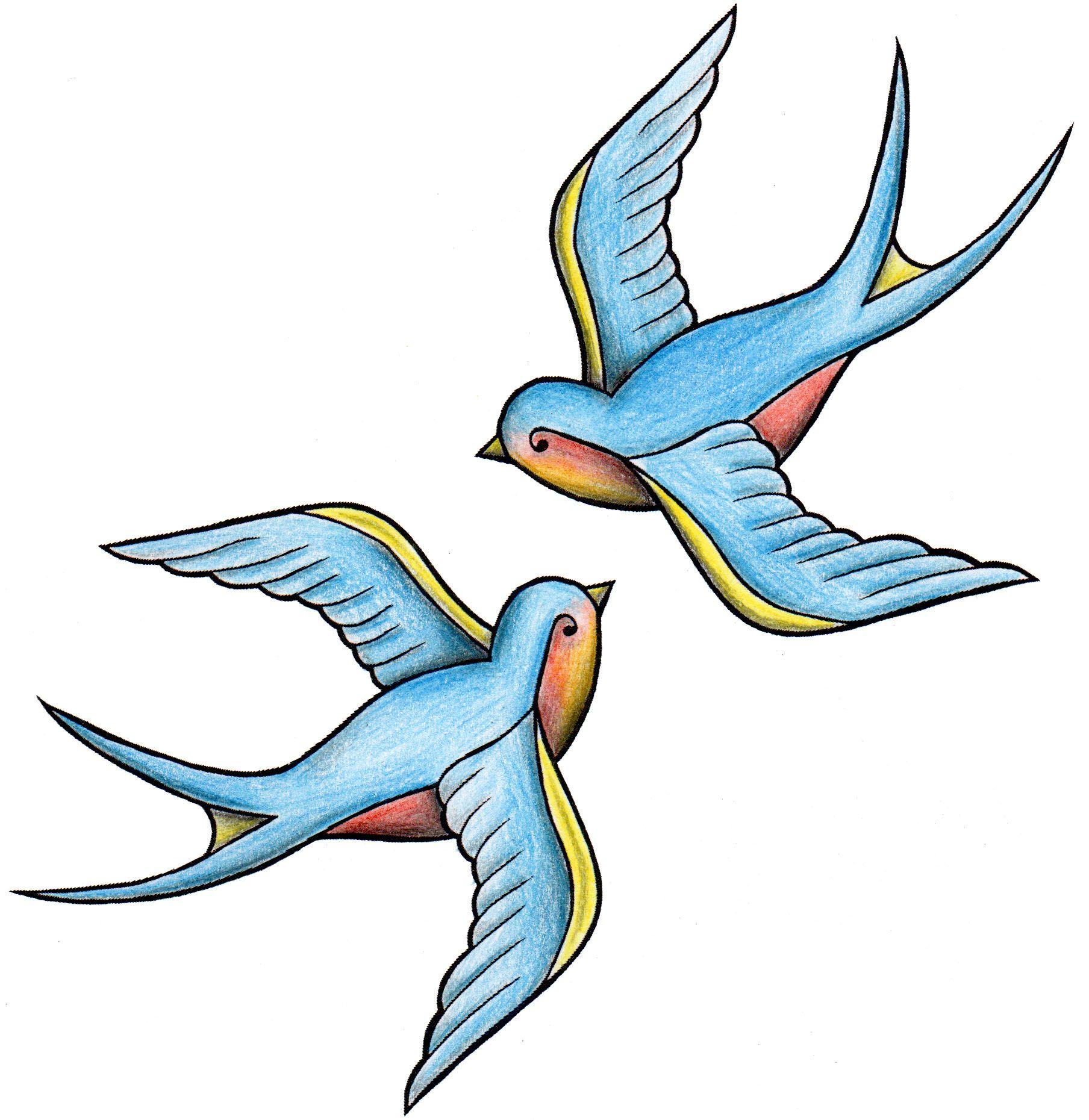 Swallows Tattoo Design tattoo tattoodesign traditional